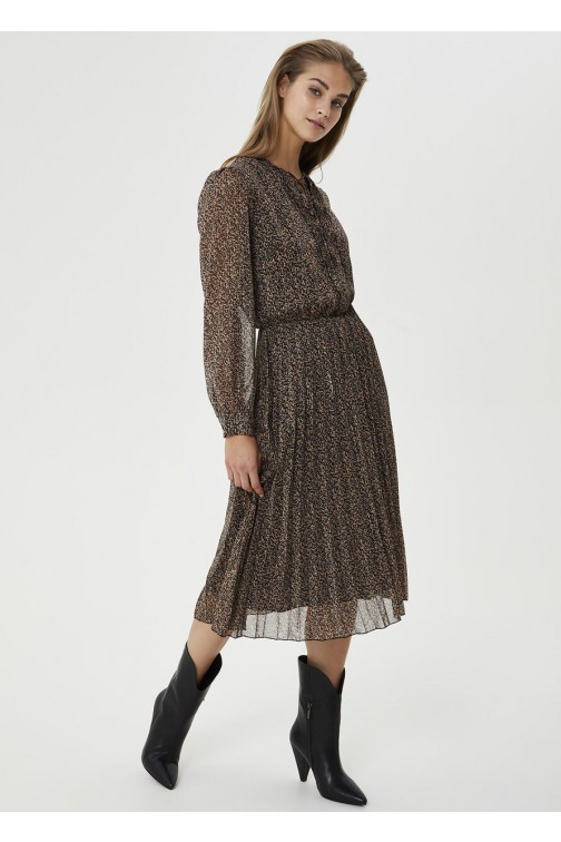 LiuJo midi dress met plissé rok