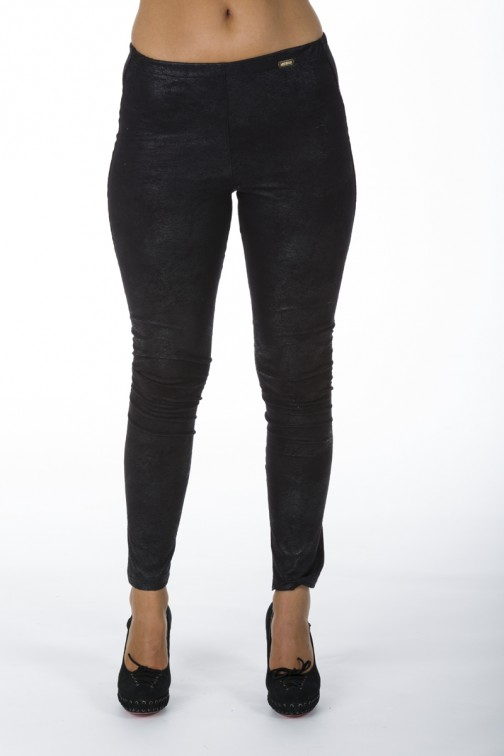 Zwarte suede legging van Miss Money Money.