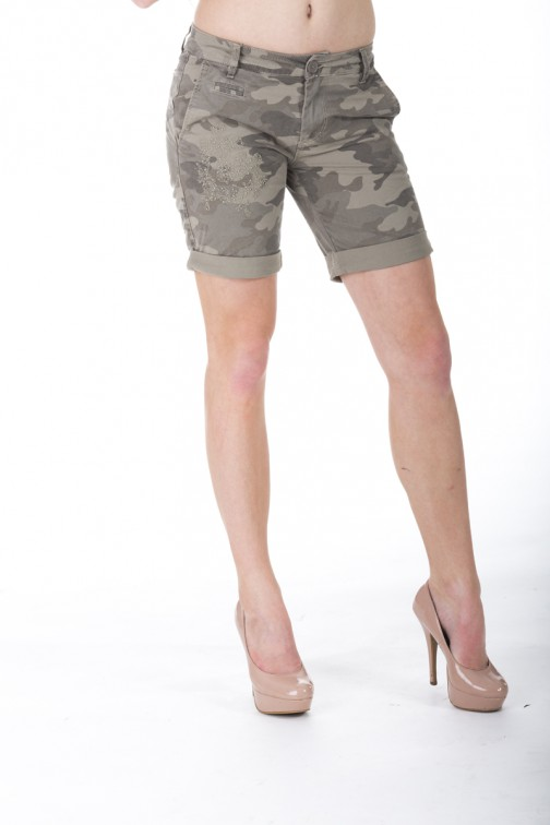 Relish short in army print.