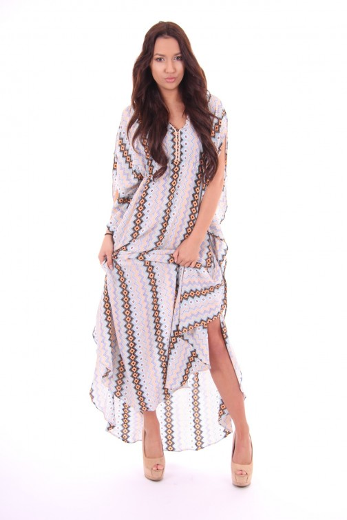 Labee-a-Porter maxidress Del Mar in print