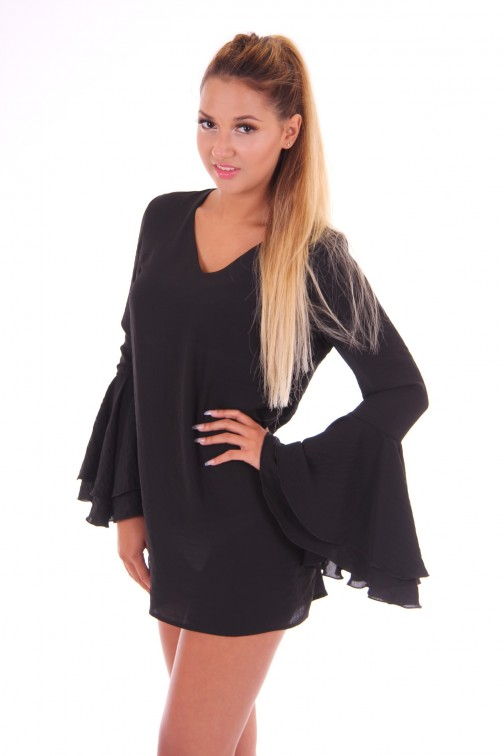 G.sel New Domigiana tunic dress in zwart