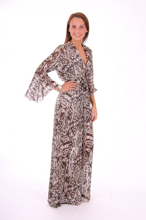 Trois Ka maxidress in animal print
