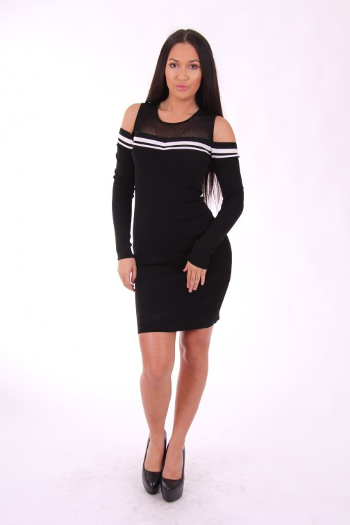 Supertrash Dane open shoulder dress