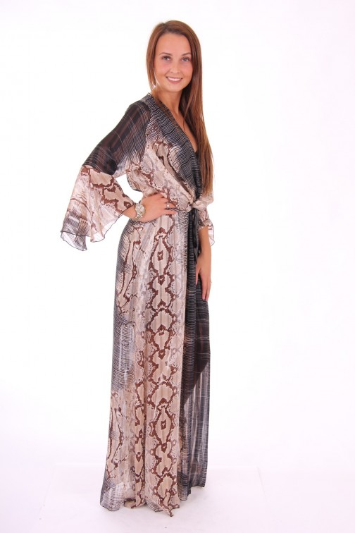 Trois Ka maxidress in snake print