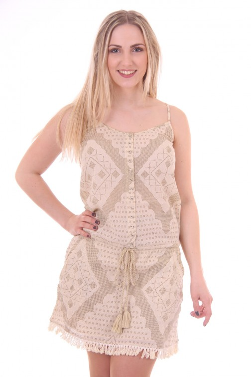 By Danie aztek dress in cream