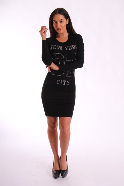 Jacky Luxury sweaterdress in zwart