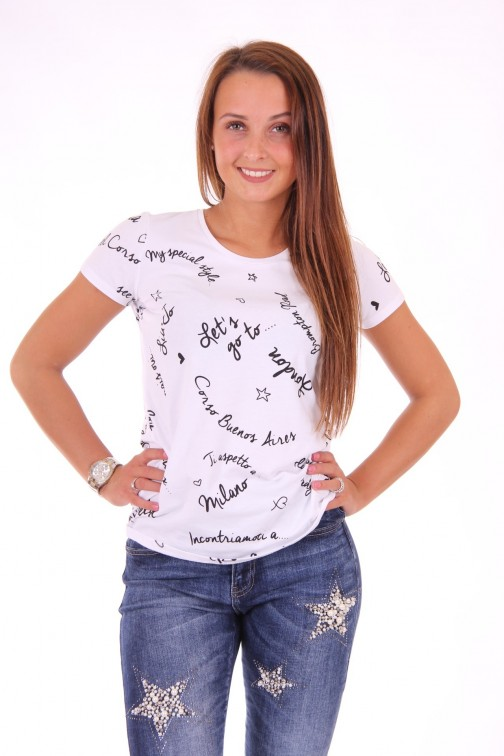 Liu Jo words t-shirt in wit