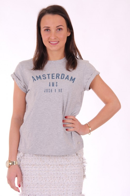 Josh V Dora t-shirt Amsterdam in grey