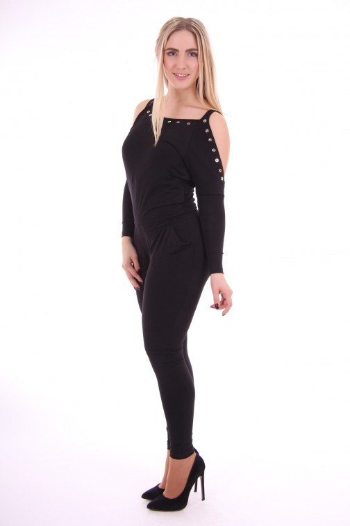 G.sel jumpsuit, Sfilata met open schouders