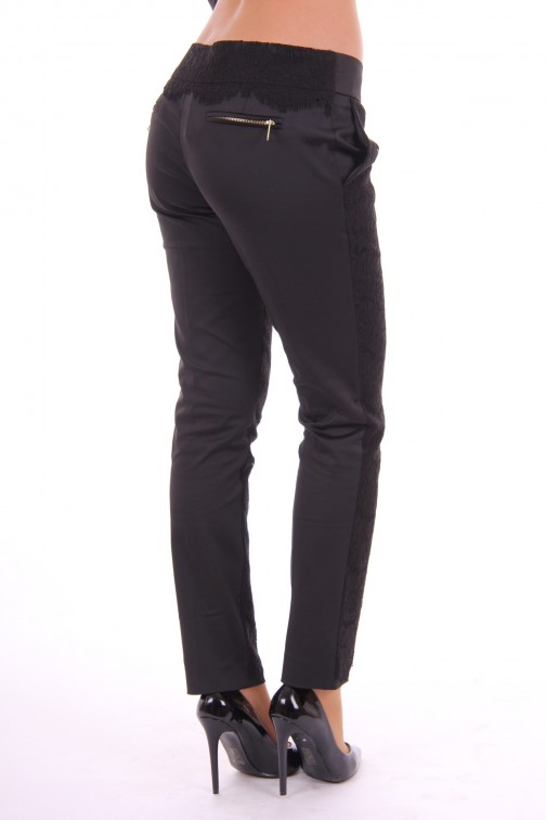 Fracomina pants with lace in black