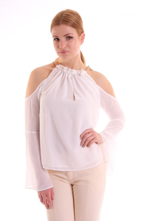 Josh V Alana open shoulder top in wit