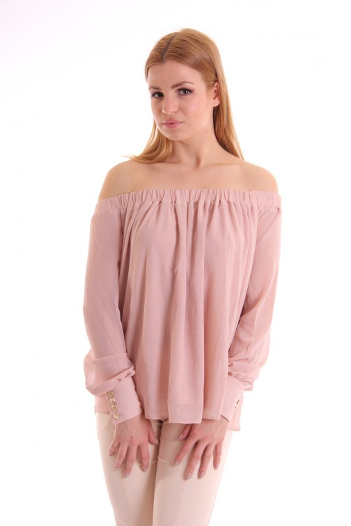 Josh V Milla Off-shoulder top in blush