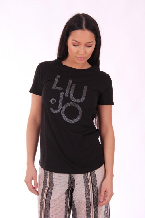 Liu Jo Satire t-shirt in zwart