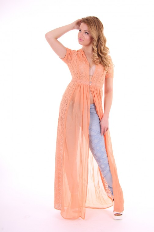 Labee-a-porter maxi dress, Dreambird in peach
