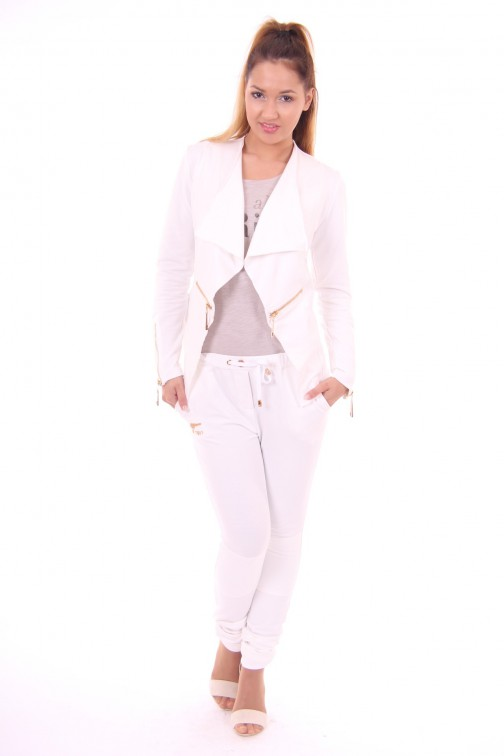 Josh V Dianne Joggingssuit in white