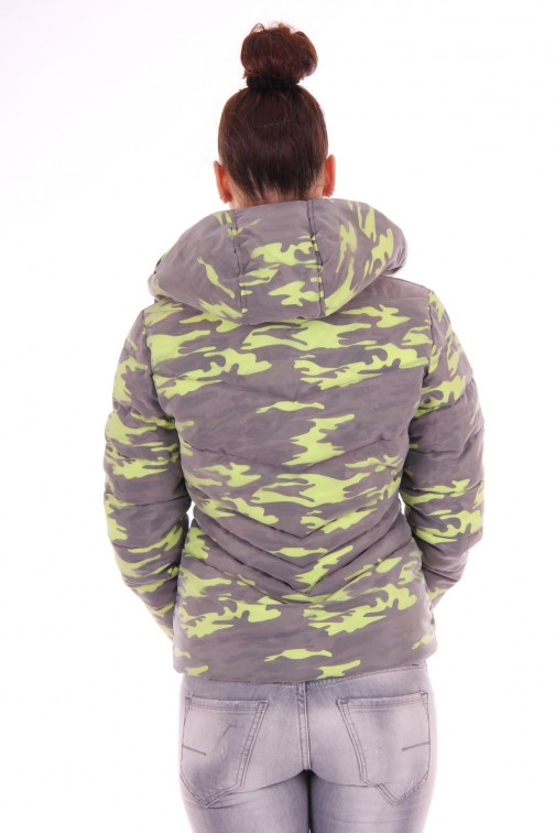 Nickelson Ono jas in camo fluo yellow