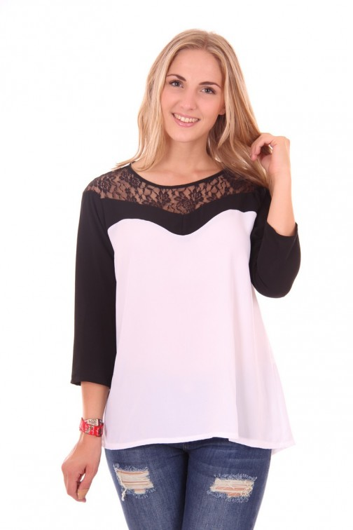 Relish Edom top, black lace