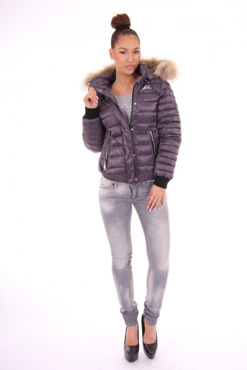 Nickelson Zuma winterjas in lilac-grey
