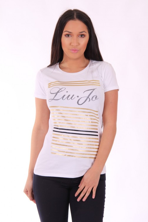 Liu Jo gold stripe t-shirt - Bebop