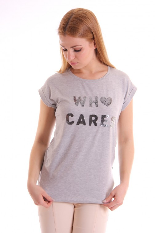 Supertrash Twisty CARES t-shirt in grijs