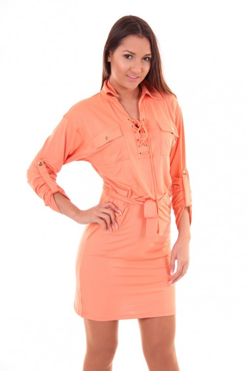 Kiims Daphne dress in coral