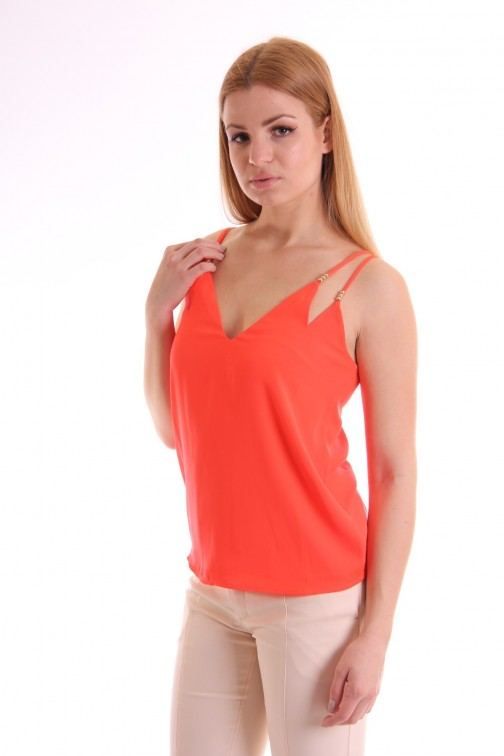 Supertrash Bangari top in coral