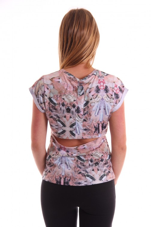 Josh V sexy Chelsey shirt in cristal print - sexy back