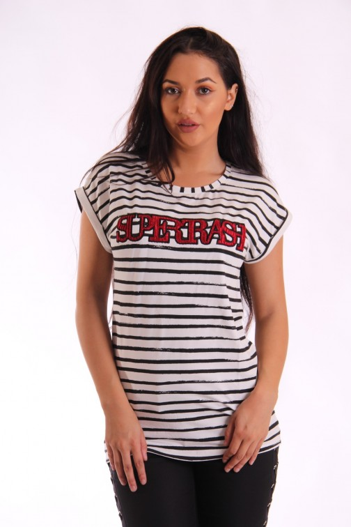 Supertrash Twisty stripe t-shirt
