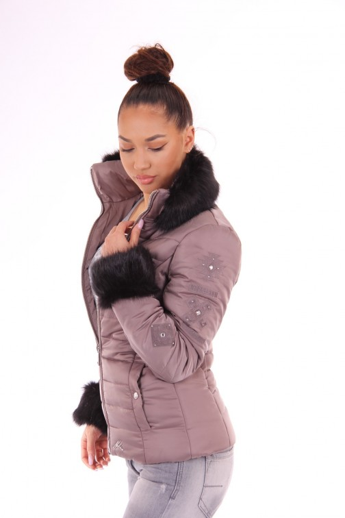 Nickelson Sapphire winterjas in taupe