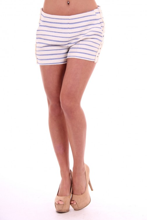 Kocca short Butus in wit en blauw