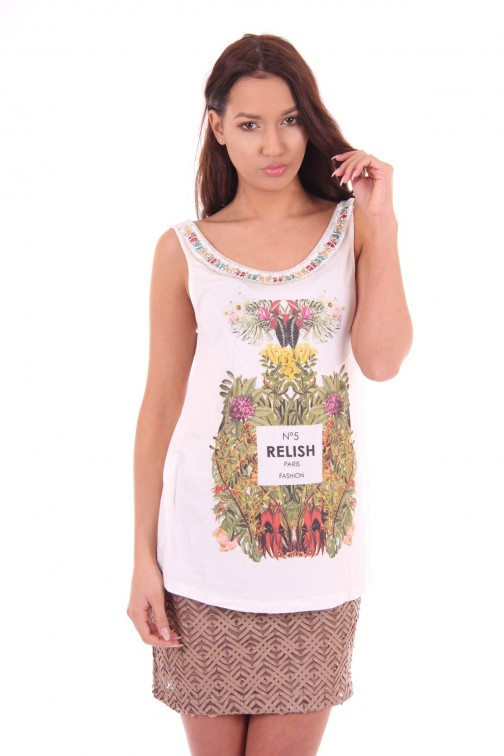Relish top, Marlon met NO5 print