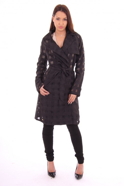 Tailor & Elbaz trenchcoat, Belva in zwart