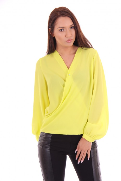 Fracomina overslag blouse in lime