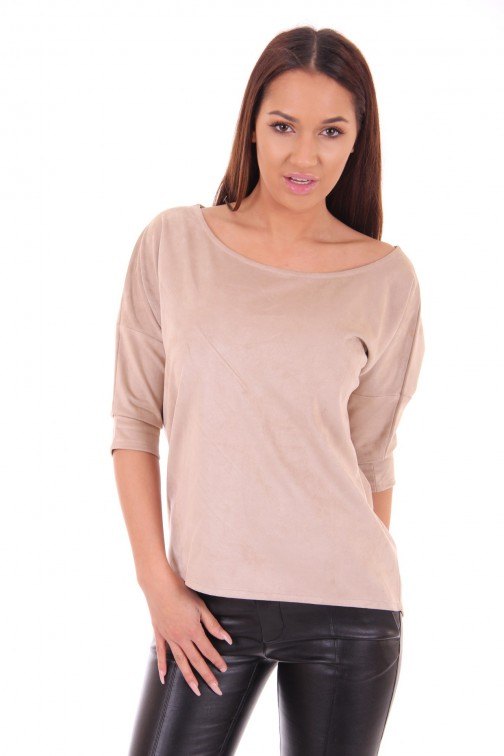 Supertrash Todros top in sand suede