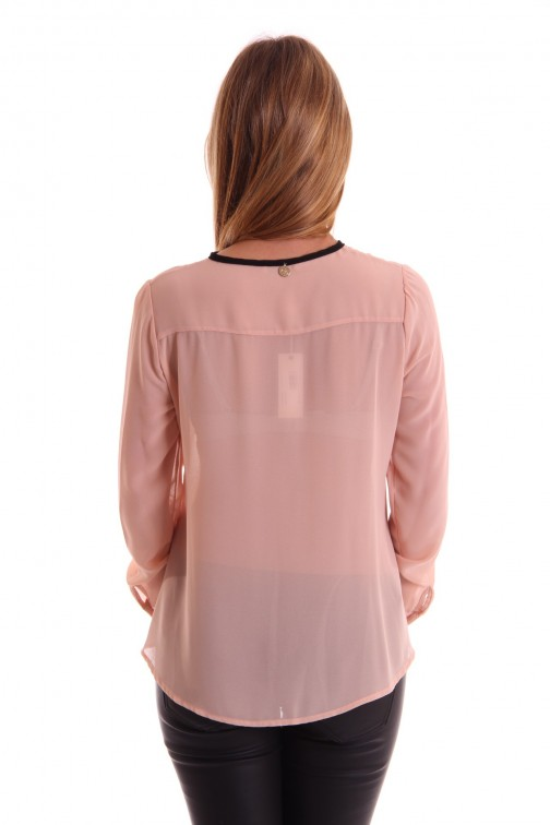 Relish Inka ruffle blouse in powder