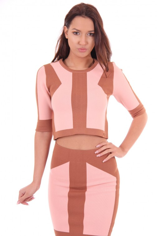 Josh V top Lilia in oyster pink