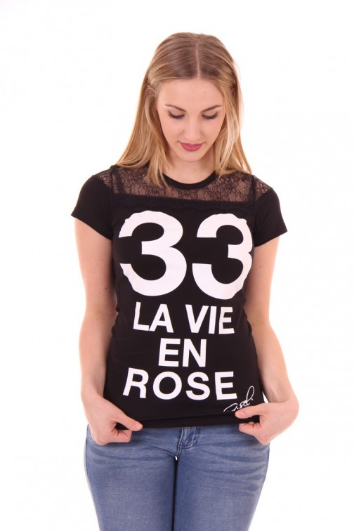 G.sel chica shirt in zwart, LA VIE EN ROSE