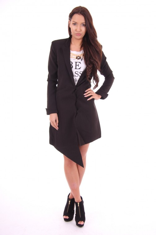 Tailor & Elbaz Long blazer, Bailey in zwart