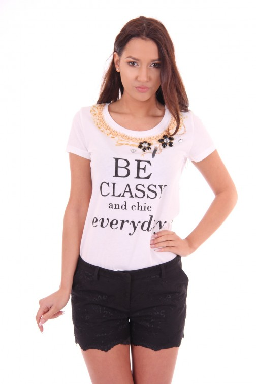 G.sel t-shirt Classy in wit