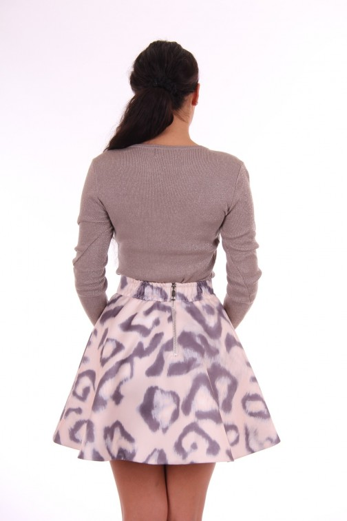Josh V Skylar skirt in leopard blush