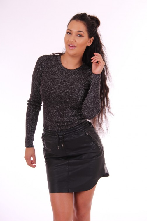 Ibana Belle glitter jumper in black
