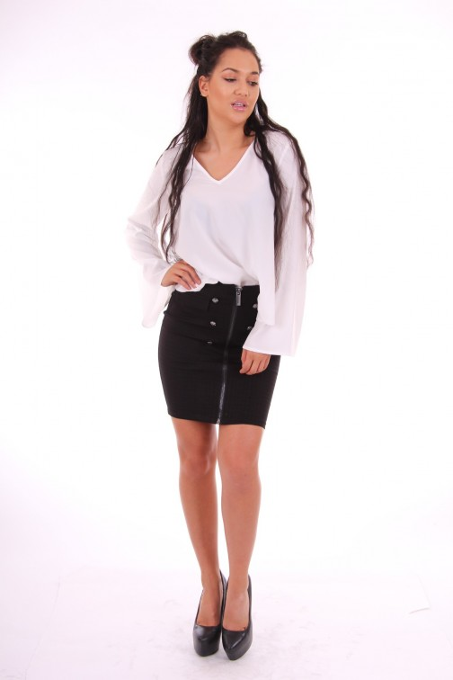 Supertrash Bembisa tunic top in wit