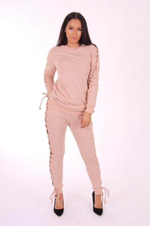 Josh V Baylee jogging broek in dusty pink