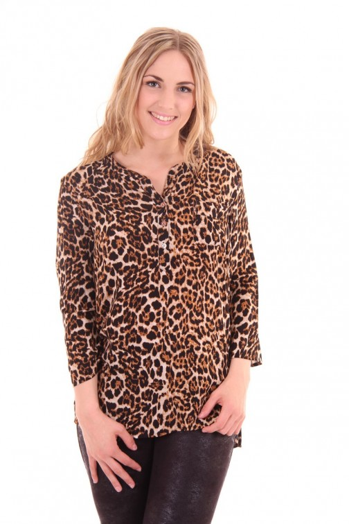 G.sel blouse in leopard print