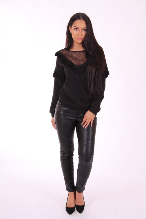 Supertrash Bestiny blouse met kant