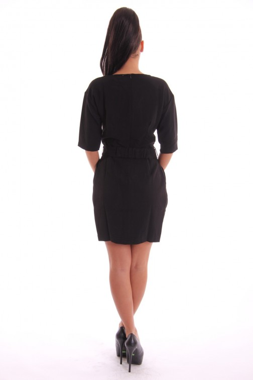 Jacky Luxury Little Black Dress met riem