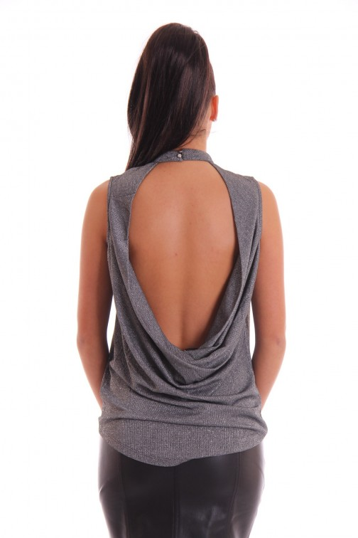 Supertrash Tiara open back top in zilver