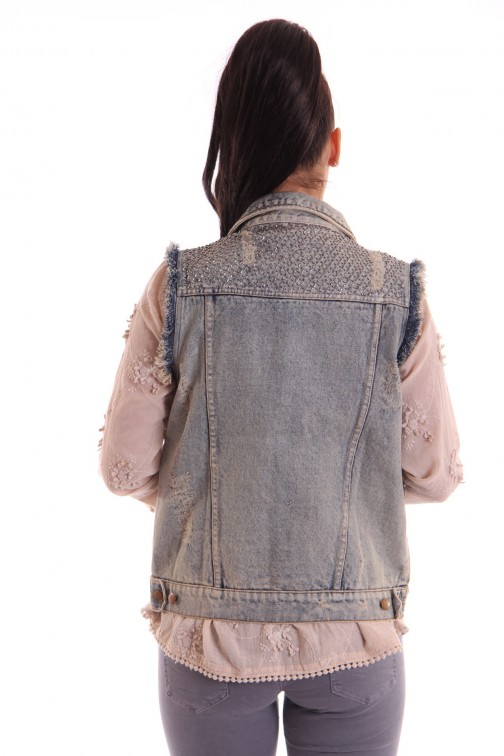 Labee Amy gilet in jeans
