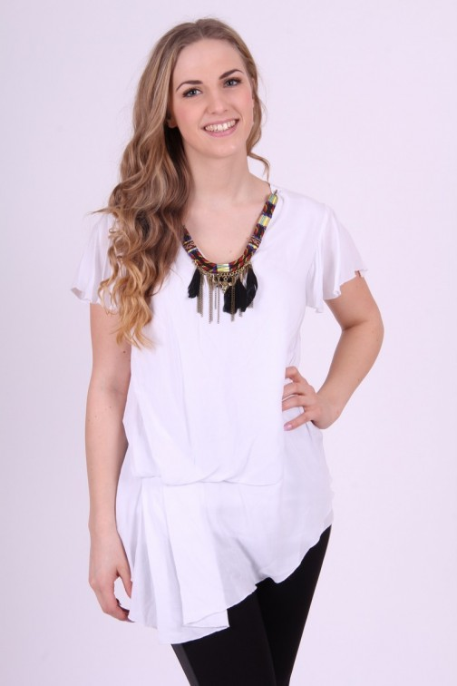 Relish shirt, Bristol met indian necklace