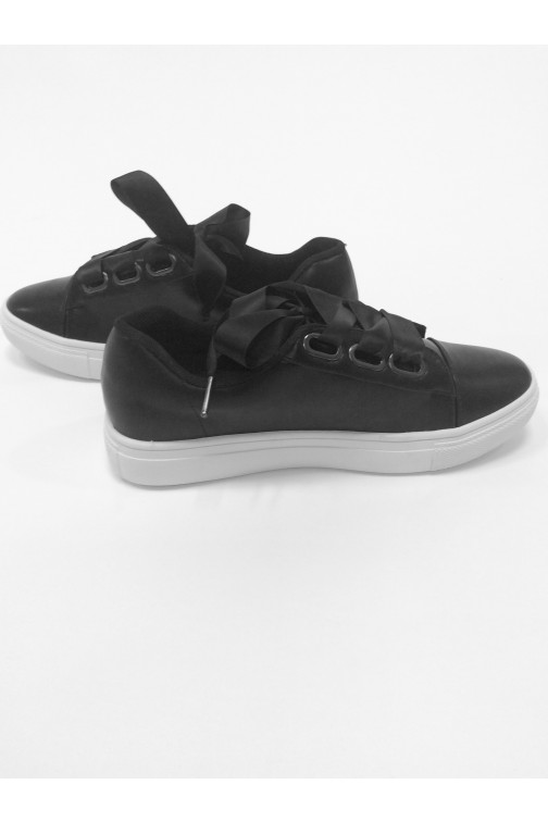 Jacky Luxury sneakers - ribbon in zwart